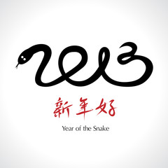 Year of the Snake 2013, Chinese Happy New Year - vector