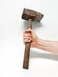Hammer mit Arbeiterhand
