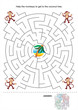 Maze game for kids - monkeys and coconut tree