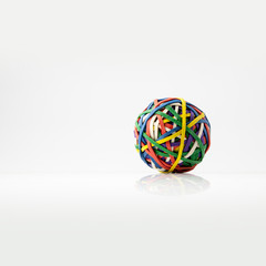 elastic bands ball