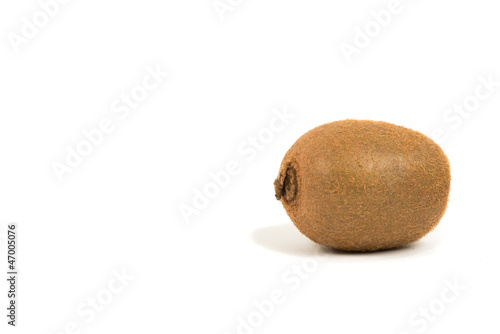 Kiwi fruit on white