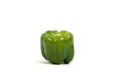 Green Paprika On White