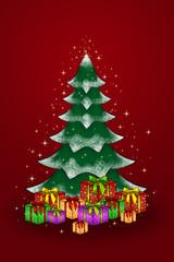 Weihnachtsbaum Bescherung heilig Abend