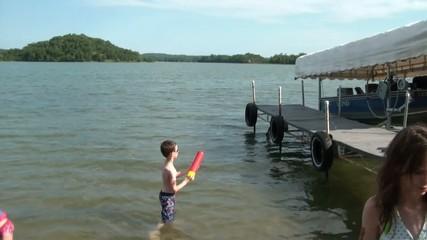 Kids on Vacation at Lake