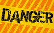 Warning sign, worn and grungy, vector scalable eps 10