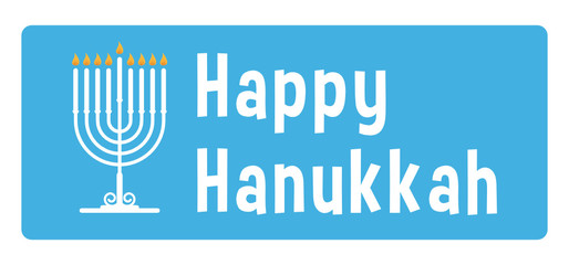Hanukkah blue sticker with candle