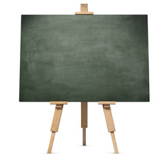 Chalkboard on wooden tripod