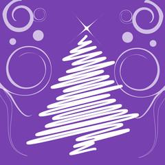 decorazione natalizia viola