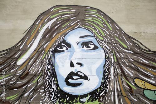 Fototapeten,graffiti,frau,gesicht,gesten