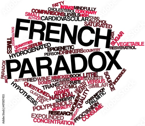 Word cloud for French paradox