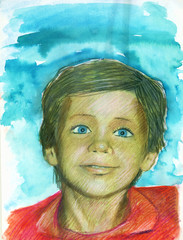 child watercolor