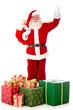 Happy Santa with Christmas presents