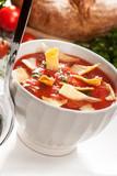 tomato Soup  with potato chips