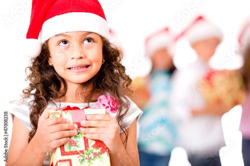 Thoughtful Christmas girl
