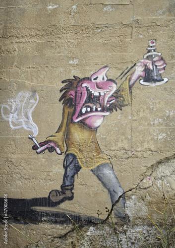 Fototapeten,graffiti,zeichnung,deko,dekoration