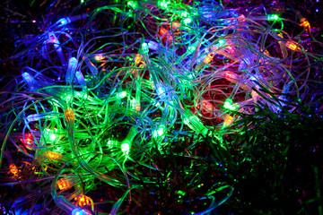 Electric Christmas garland