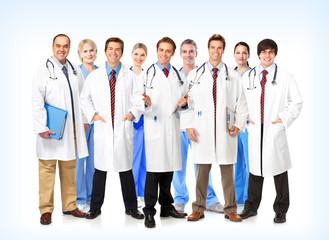 Smiling medical doctors team.