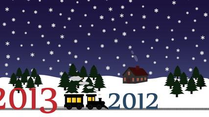 Neujahr 2013 Winterlandschaft