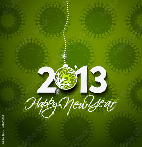 Happy New year 2013 background. Vector illustration