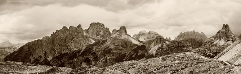 Dolomites, Landscape sepia - Italy