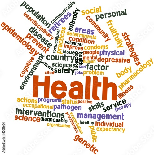 Word cloud for Health