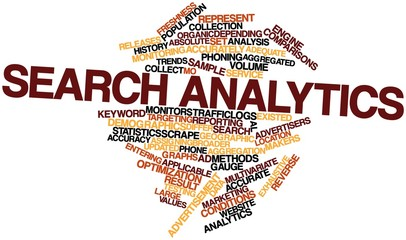 Word cloud for Search analytics
