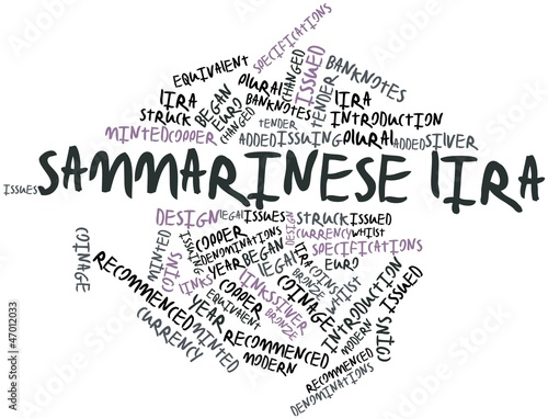 Word cloud for Sammarinese lira