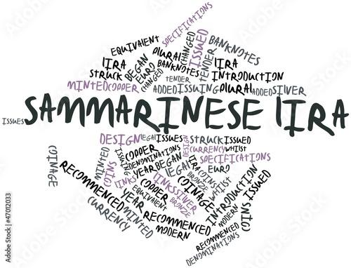 Word cloud for Sammarinese lira