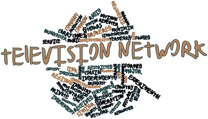 Word cloud for Television network