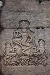 three dancing women Apsaras