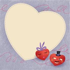 nice valentine´s hearts - card