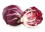 red cabbage radicchio isolated on white