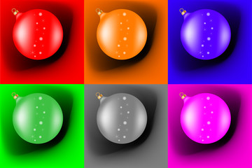 Different christmas balls