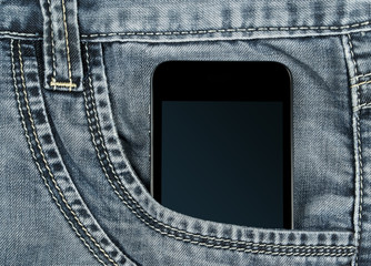 graded-screen smartphone in your pocket gray jeans