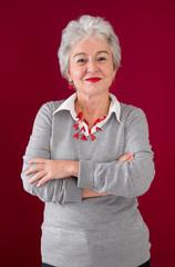 Glück in jeder Lebensphase - ältere attraktive Frau