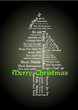 Merry Christmas Tagcloud Baum