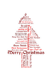 Merry Christmas - Frohe Weihnachten Tagcloud