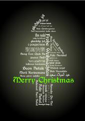 Merry Christmas Tagcloud Baum