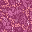 Vector autumn garden seamless pattern with decorative fall