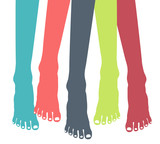 Colorful healthy feet vector.