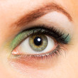 Woman's green eye