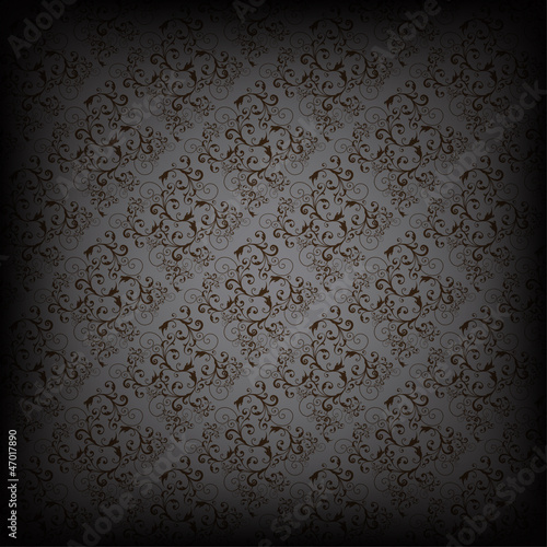 Seamless wallpaper pattern, black