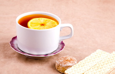 Tea with Lemon and sweet treats