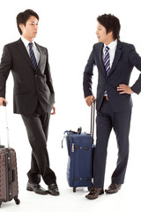 young businessmen on a business trip