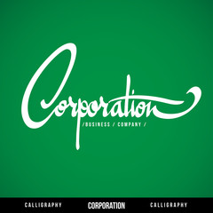 CORPORATION Vector Lettering.