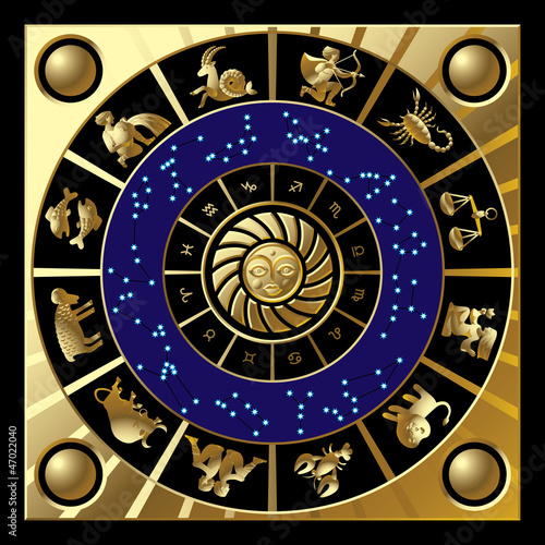 Fototapeta Circle of zodiac