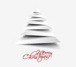white christmas tree, design, vector illustration.