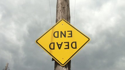 Dead End Sign Upside Down