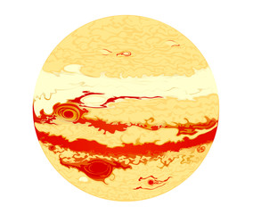 Vector images Jupiter planets in the universe