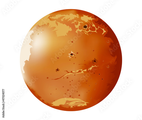 Vector images Mars planets in the universe